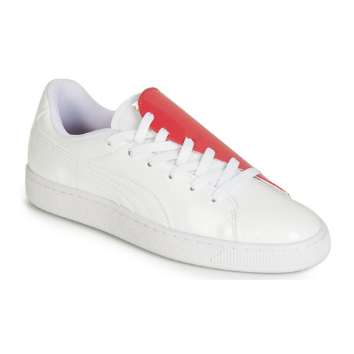 Παπούτσια Γυναίκα Χαμηλά Sneakers Puma WN BASKET CRUSH.WH-HIBISCU Άσπρο