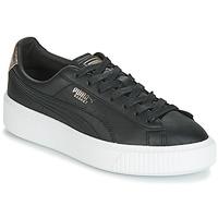 Παπούτσια Γυναίκα Χαμηλά Sneakers Puma WN SUEDE PLATFM OPULENT.BL Black