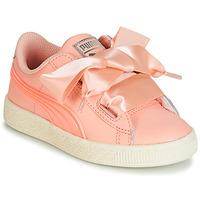 Παπούτσια Κορίτσι Χαμηλά Sneakers Puma PS BASKET HEART JELLY.PEAC Ροζ