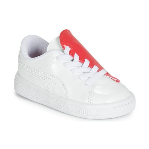 Παπούτσια Κορίτσι Χαμηλά Sneakers Puma INF B CRUSH PATENT AC.W-H Άσπρο