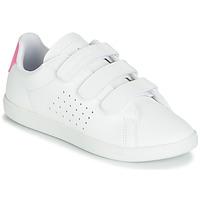 Παπούτσια Κορίτσι Χαμηλά Sneakers Le Coq Sportif COURTSET PS Άσπρο / Ροζ