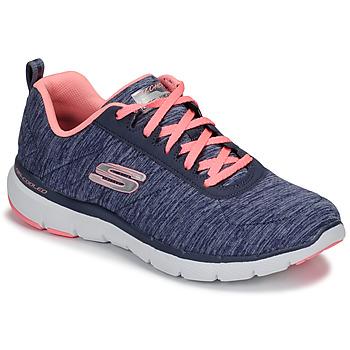 Παπούτσια Γυναίκα Fitness Skechers FLEX APPEAL 3.0 Marine / Ροζ