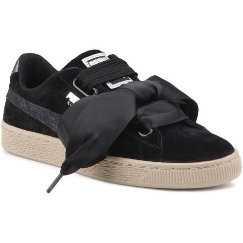 Παπούτσια Γυναίκα Χαμηλά Sneakers Puma Lifestyle shoes   Suede Heart Safari Wns 364083 03 black
