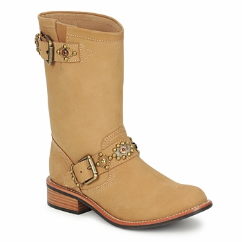 Παπούτσια Γυναίκα Μπότες Miss L'Fire MCQUEEN Beige