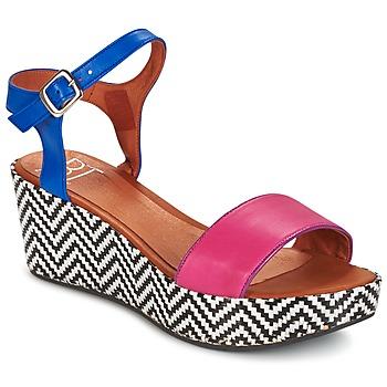 Παπούτσια Γυναίκα Σανδάλια / Πέδιλα Betty London COQUETTE Fuchsia / Μπλέ