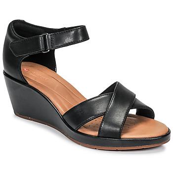 Παπούτσια Γυναίκα Σανδάλια / Πέδιλα Clarks UN PLAZA CROSS Black