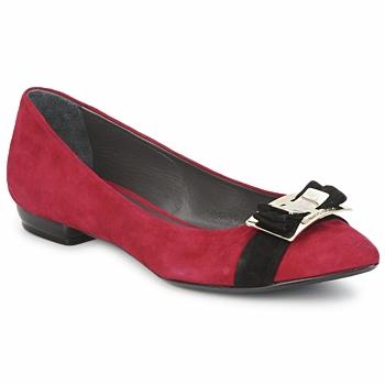 Παπούτσια Γυναίκα Μπαλαρίνες Alberto Gozzi CAMOSCIO RUBINO Rosso
