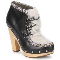 Παπούτσια Γυναίκα Χαμηλές Μπότες Belle by Sigerson Morrison BLACKA Beige / ΜΑΥΡΟ