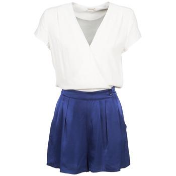 Υφασμάτινα Γυναίκα Ολόσωμες φόρμες / σαλοπέτες Naf Naf KLOVIS άσπρο / μπλέ