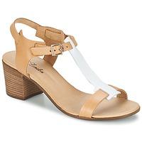 Παπούτσια Γυναίκα Σανδάλια / Πέδιλα Betty London GANTOMI Camel / Άσπρο
