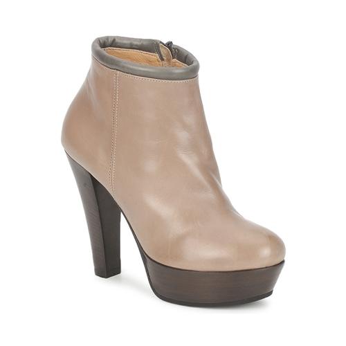 Παπούτσια Γυναίκα Χαμηλές Μπότες Keyté POULOI Taupe