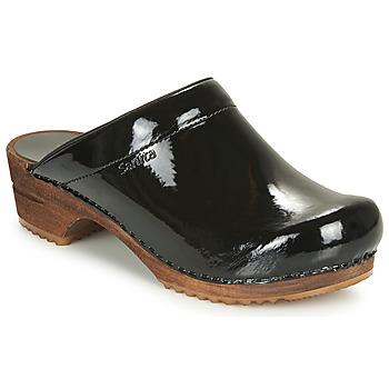 Παπούτσια Γυναίκα Σαμπό Sanita CLASSIC PATENT Black