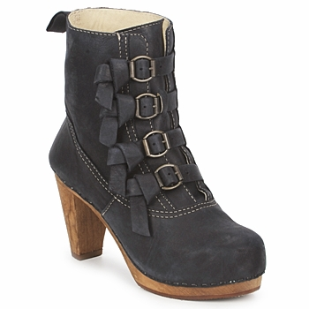 Παπούτσια Γυναίκα Μποτίνια Sanita ELM CONE Black