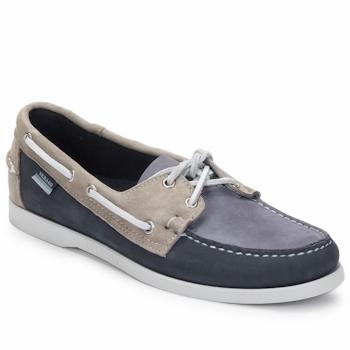 Παπούτσια Άνδρας Boat shoes Sebago SPINNAKER Navy / Άσπρο / Μπλέ