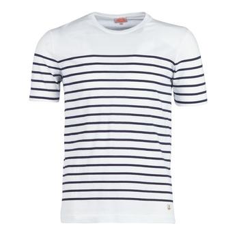 Υφασμάτινα Άνδρας T-shirt με κοντά μανίκια Armor Lux YAYALOUT Άσπρο / Marine