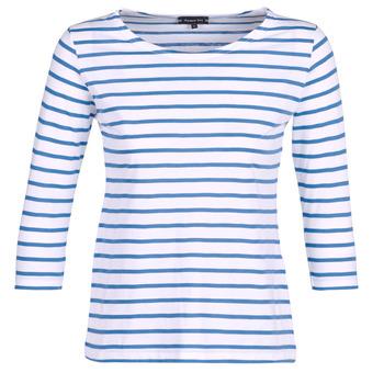 Υφασμάτινα Γυναίκα Μπλουζάκια με μακριά μανίκια Armor Lux YAYAROULE Άσπρο / Μπλέ