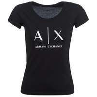 Υφασμάτινα Γυναίκα T-shirt με κοντά μανίκια Armani Exchange HELBATANTE Black