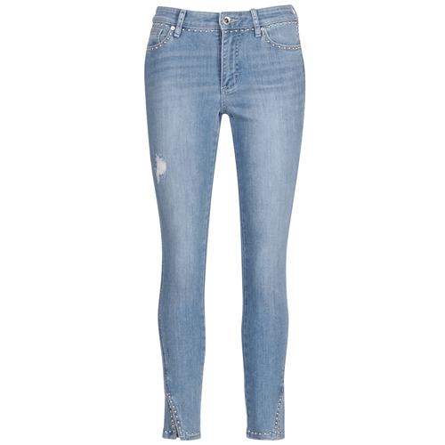 Υφασμάτινα Γυναίκα Jeans 3/4 & 7/8 Armani Exchange HELBIRI Μπλέ /  clair