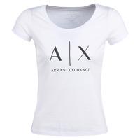 Υφασμάτινα Γυναίκα T-shirt με κοντά μανίκια Armani Exchange HELIAK Άσπρο