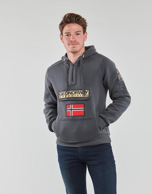 Υφασμάτινα Άνδρας Φούτερ Geographical Norway GYMCLASS Grey