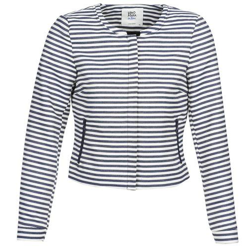 Υφασμάτινα Γυναίκα Σακάκι / Blazers Vero Moda MALTA Marine / Άσπρο