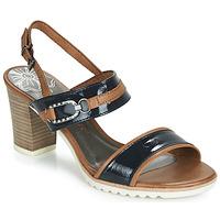 Παπούτσια Γυναίκα Σανδάλια / Πέδιλα Marco Tozzi TRELEME Camel / Marine