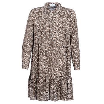 Υφασμάτινα Γυναίκα Κοντά Φορέματα Betty London JECREHOU Beige / Brown