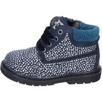 Παπούτσια Κορίτσι Μποτίνια Asso polacchini blu camoscio strass BT297 blu