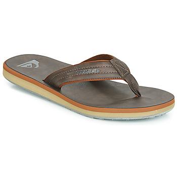 Παπούτσια Άνδρας Σαγιονάρες Quiksilver CARVER NUBUCK M SNDL CTK1 Brown