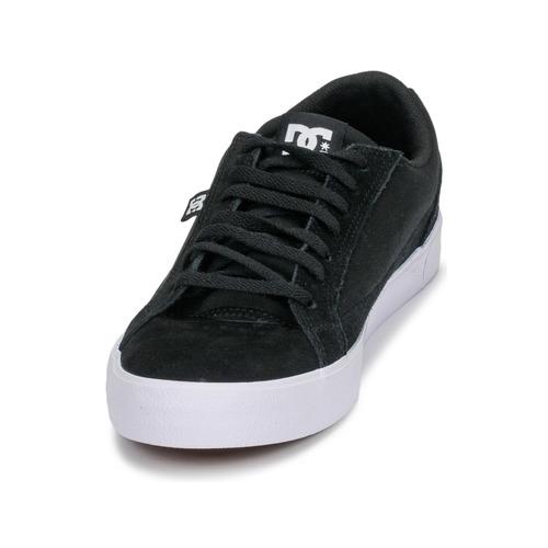 DC Shoes LYNNFIELD M SHOE BKW Black - Δωρεάν Αποστολή Παπούτσια Χαμηλά Sneakers Man 6160