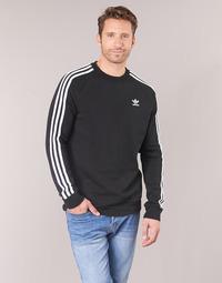 Υφασμάτινα Άνδρας Φούτερ adidas Originals 3 STRIPES CREW Black