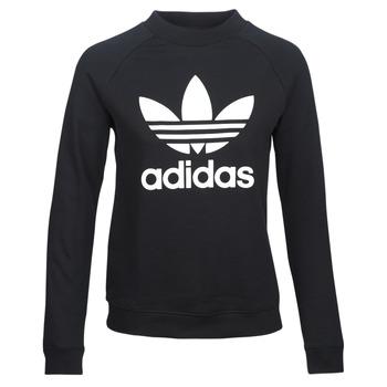 Υφασμάτινα Γυναίκα Φούτερ adidas Originals TRF CREW SWEAT Black