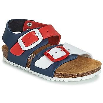 Παπούτσια Παιδί Σανδάλια / Πέδιλα Garvalin BIO  BOY Marine / Red / Άσπρο