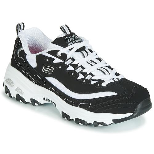 Παπούτσια Γυναίκα Χαμηλά Sneakers Skechers D'LITES Black / Άσπρο