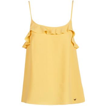 Υφασμάτινα Γυναίκα Αμάνικα / T-shirts χωρίς μανίκια Les Petites Bombes AZITAFE Yellow