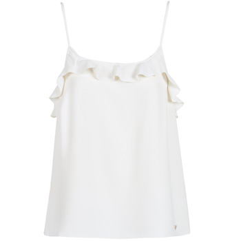 Υφασμάτινα Γυναίκα Αμάνικα / T-shirts χωρίς μανίκια Les Petites Bombes AZITAFE Άσπρο