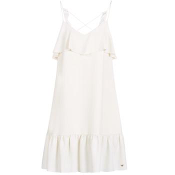 Υφασμάτινα Γυναίκα Κοντά Φορέματα LPB Woman AZITARBE Άσπρο