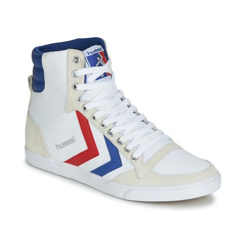 Παπούτσια Ψηλά Sneakers Hummel TEN STAR HIGH CANVAS Άσπρο / Μπλέ / Red