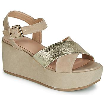 Παπούτσια Γυναίκα Σανδάλια / Πέδιλα Geox D ZERFIE Gold / Taupe