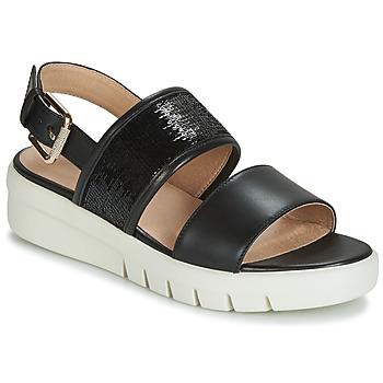 Παπούτσια Γυναίκα Σανδάλια / Πέδιλα Geox D WIMBLEY SANDAL Black