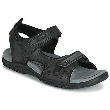 Παπούτσια Άνδρας Σπορ σανδάλια Geox UOMO SANDAL STRADA Black