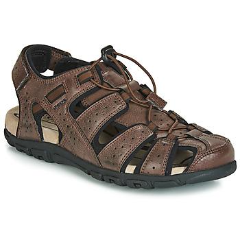 Παπούτσια Άνδρας Σπορ σανδάλια Geox UOMO SANDAL STRADA Brown