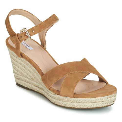Παπούτσια Γυναίκα Σανδάλια / Πέδιλα Geox D SOLEIL Camel