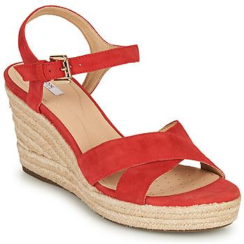 Παπούτσια Γυναίκα Σανδάλια / Πέδιλα Geox D SOLEIL Red / Corail