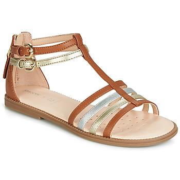 Παπούτσια Κορίτσι Σανδάλια / Πέδιλα Geox J SANDAL KARLY GIRL Camel / Gold