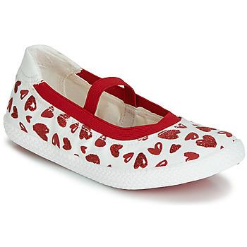 Παπούτσια Κορίτσι Μπαλαρίνες Geox J KILWI GIRL Άσπρο / Red