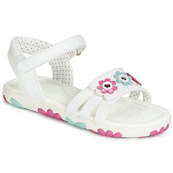 Παπούτσια Κορίτσι Σανδάλια / Πέδιλα Geox J SANDAL HAITI GIRL Άσπρο