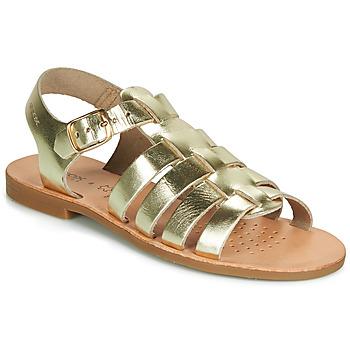 Παπούτσια Κορίτσι Σανδάλια / Πέδιλα Geox J SANDAL VIOLETTE GI Gold