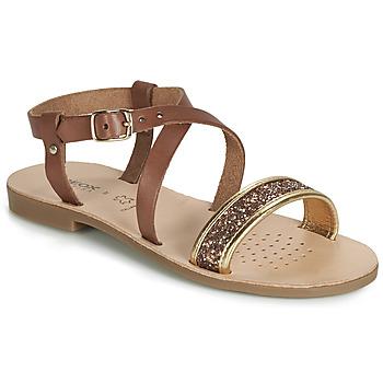 Παπούτσια Κορίτσι Σανδάλια / Πέδιλα Geox J SANDAL VIOLETTE GI Brown