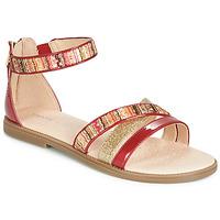 Παπούτσια Κορίτσι Σανδάλια / Πέδιλα Geox J SANDAL KARLY GIRL Red / Dore